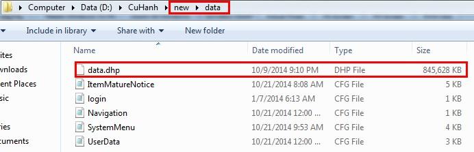 Vào thư mục cài đặt game 3Q Củ Hành, xóa 2 tập tin data.dhp và msango.bin  đi rồi vào Củ Hành Play nhấn Cập Nhật.
