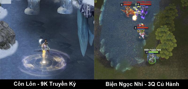 Có thể nói cách đánh của Biện Ngọc Nhi trong game 3Q khá giống với Côn Lôn  trong 9K, đó là rình rập tìm con mồi thích hợp sau đó tung đòn dứt điểm.