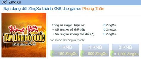 Phong Thần - Quay số trong game