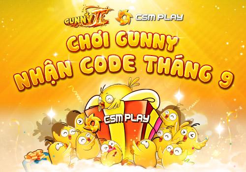 Code Gunny trên CSM Play tháng 9
