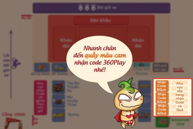 Trong đó, 3Q tặng 2 loại code là Củ Hành Lệnh 8 và code 3Q Đại Hội 360Play