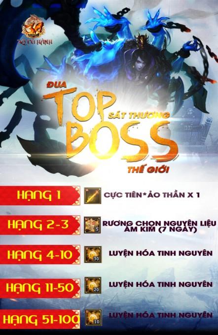 Khi boss bị tiêu diệt, top 100 tướng quân có tổng sát thương cao nhất sẽ  được trao thưởng, thời gian trao thưởng trong vòng 15 ngày sau khi kết thúc.