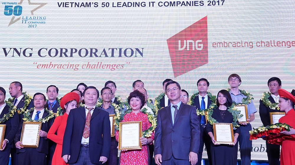 VNG reached the top 50 IT enterprises in Vietnam in 2017