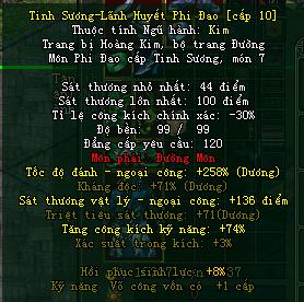 Công Thức Ép Trang Bị Tinh Sương Max off tion Võ Lâm Thu Phí