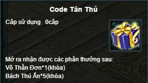 Quà Code Tân Thủ