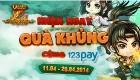 Nạp ATM (123 pay) – Nhận Ngay Quà Khủng T4