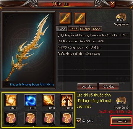 Vũ khí Thần Sa - Kiếm Thế