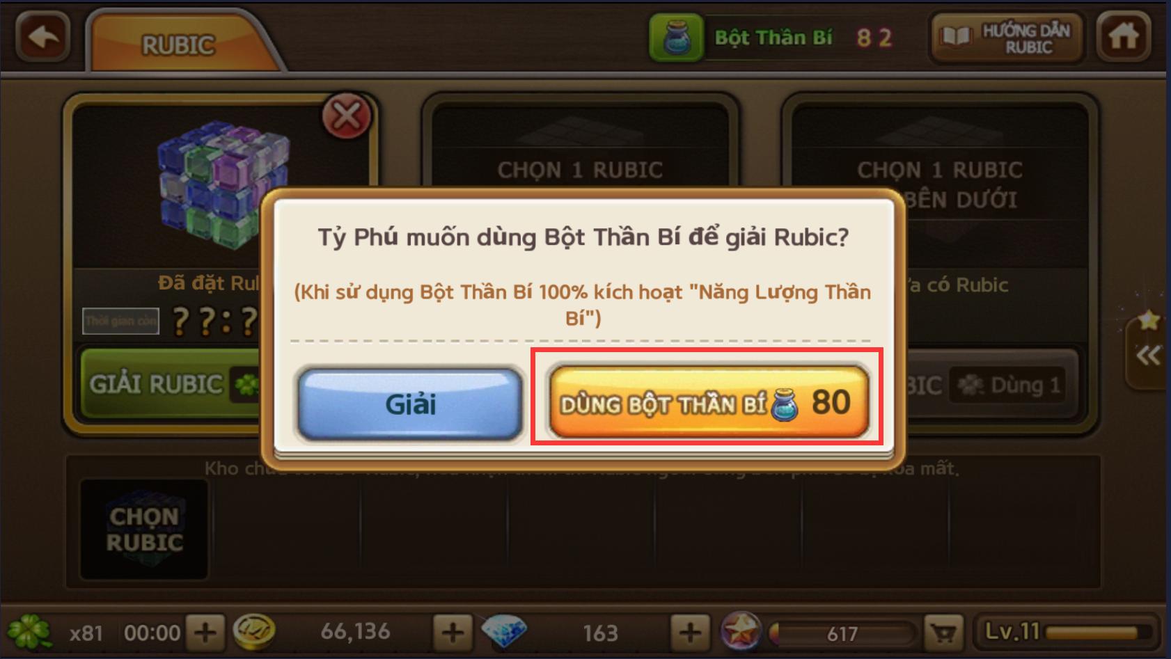 hướng dẫn bug Cờ Tỷ Phú RUBIK - CÁC LOẠI RUBIK - BỘT THẦN BÍ RU-TB2